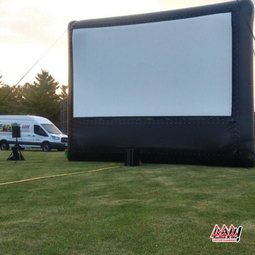 25-foot-inflatable-movie-screen-Record-A-Hit