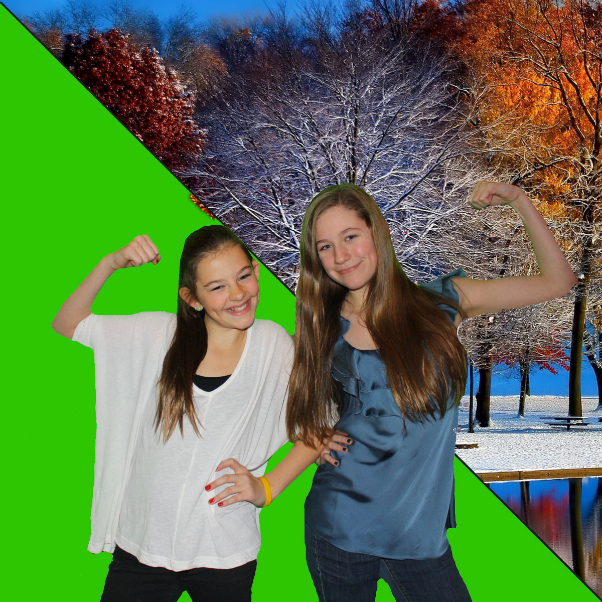 Winter Green Screen Technology Photo