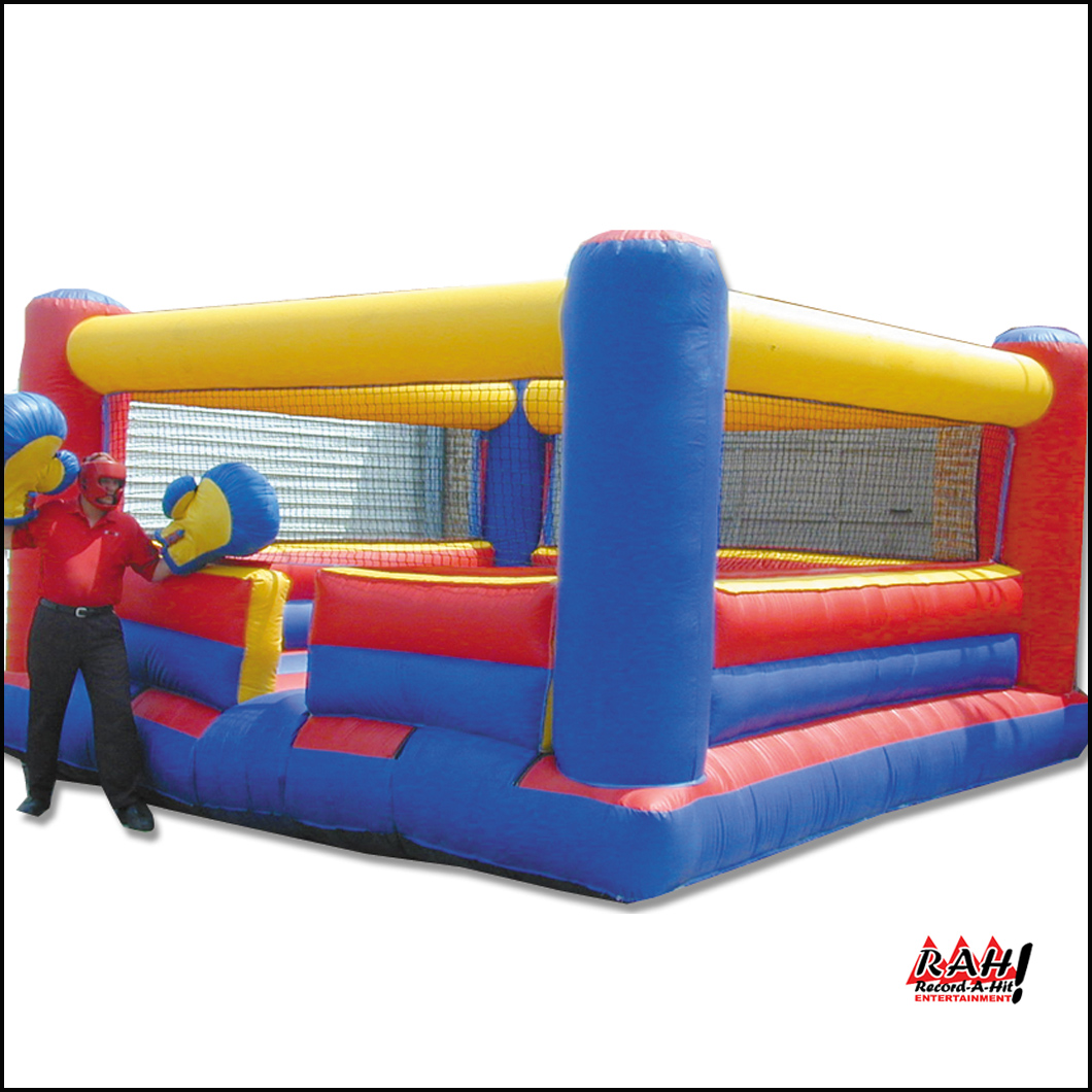 Bouncy Boxing Inflatable Boxing Ring Record A Hit Entertainment Party Rental Equipment