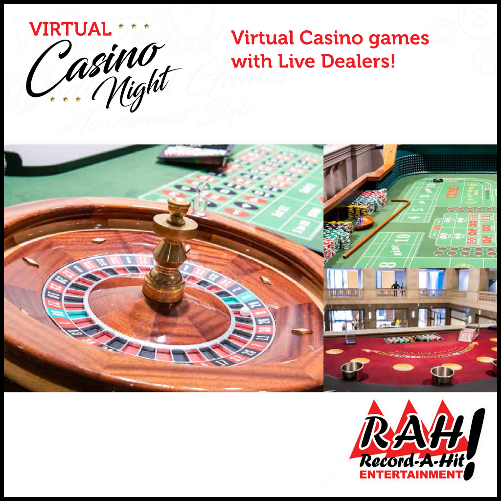 Virtual Casino Night with Live Dealers